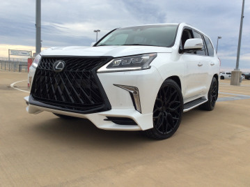 "Lexus LX570 24"" gloss black Vossen HF-2 wheels wrapped in Toyo proxes 285/35/24"