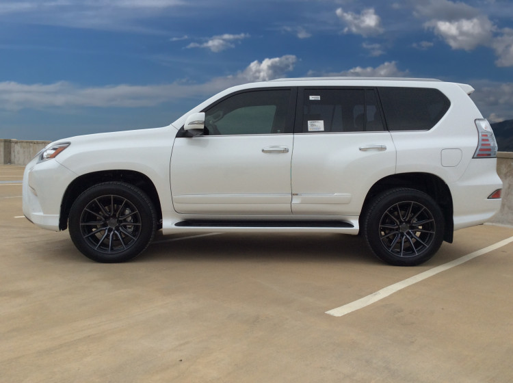 Lexus GX460 Vossen' new HF-6 wheel in tinted gloss black wrapped with Michelin premier 265/50/20 tires