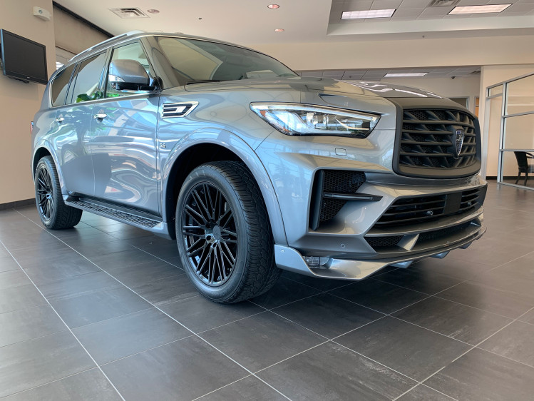 Infiniti QX80 Gloss Black 22x9.5 BR Zulu with Factory Tires