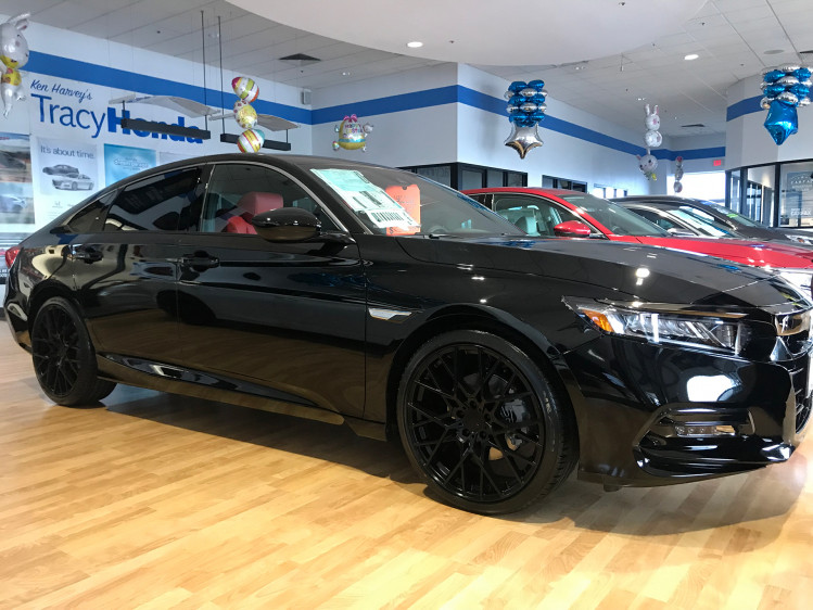 "Honda Accord 20"" TSW Sebring gloss black mounted on NEXEN N'FERA"
