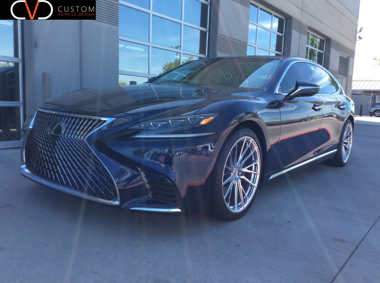 Lexus LS500 w/ Vossen M-X4T wheels staggered. 21x9 front 21x10.5 rear wrapped in Michelin 245/40/21 & 275/35/21