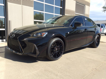 Lexus F-sport with 18x8.5 & 18x9.5 TSW Mosport wheels