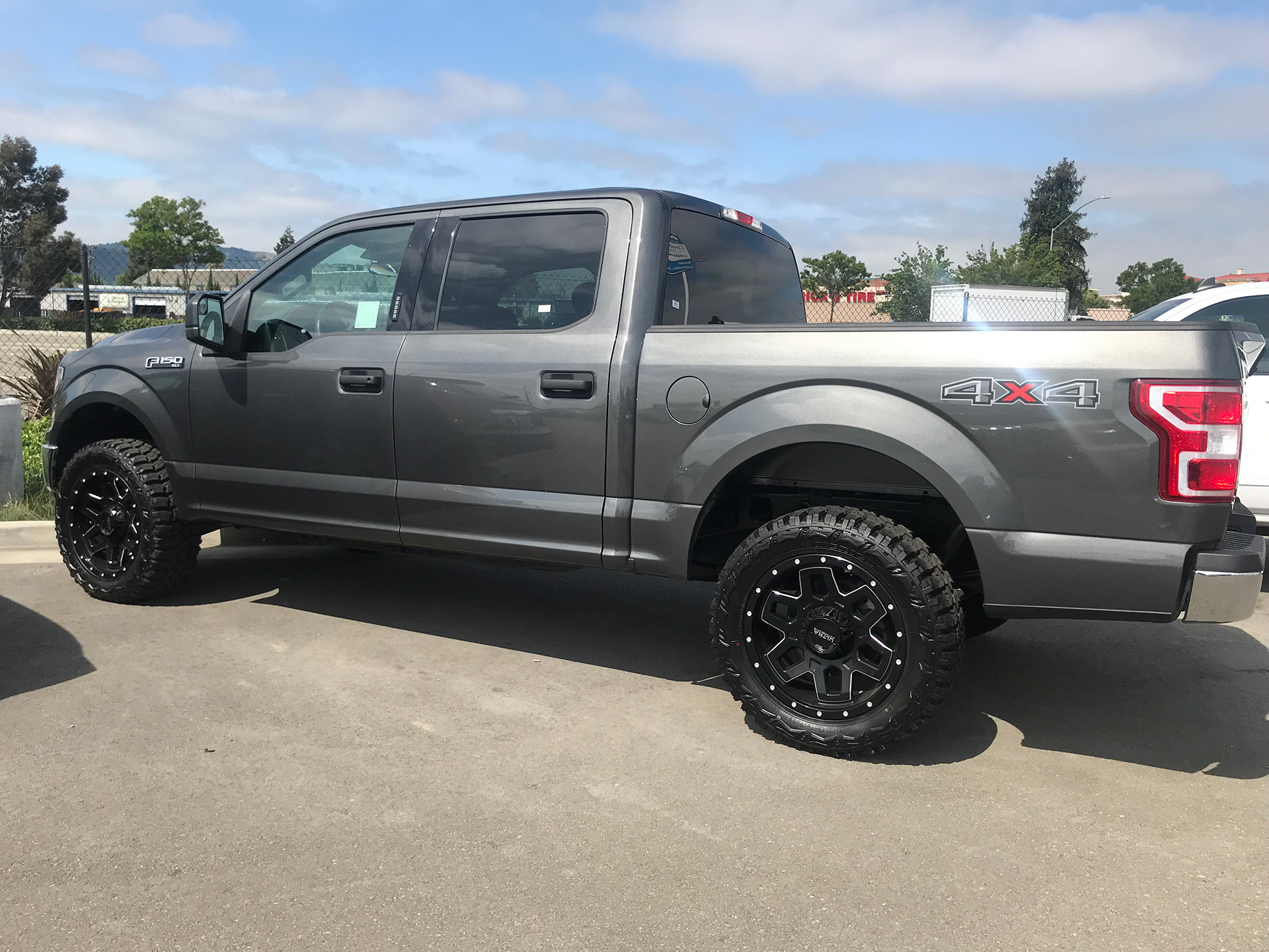 "2018 Ford F-150 4x4 Leveled 20"" Ultra 217 Warlock wrapped in 33x12.50R20 off road tires"