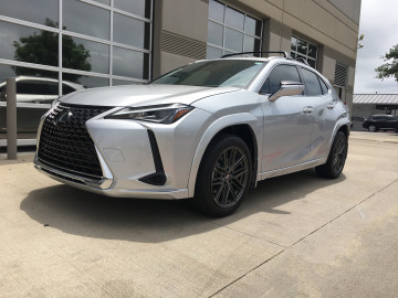 Lexus UX200 Bespoke Edition All trim color matched with Enkei Phantom wheels wrapped