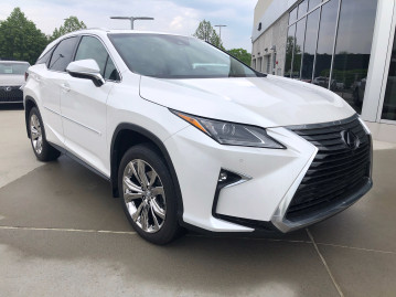 Lexus RX350 PVD wheels body side moldings painted to match with chrome inserts