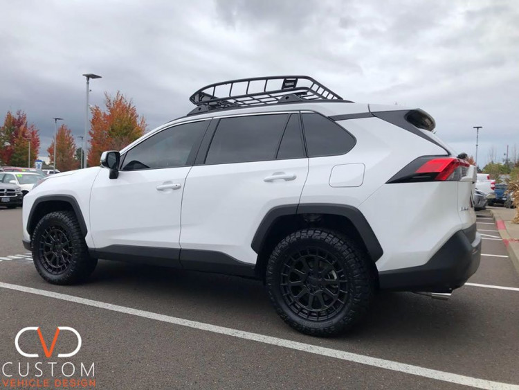 2019 Toyota Rav4 with 18 inch Black Rhino Boxer wheels