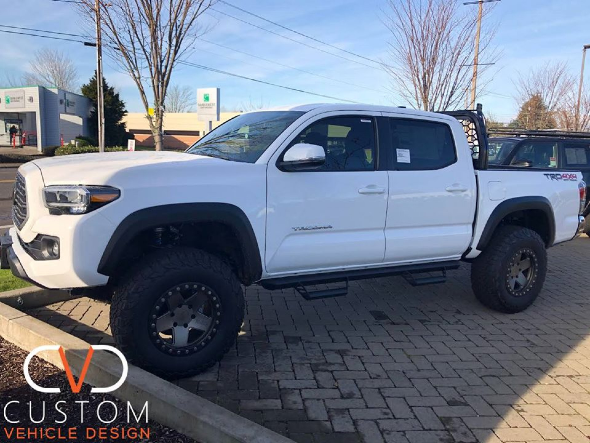 2020 Toyota Tacoma with 17 inch Black Rhino Crawler wheels