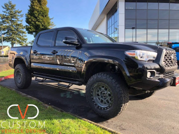 "2019 TOYOTA TACOMA WITH 17"" BLACK RHINO KELSO WHEELS"
