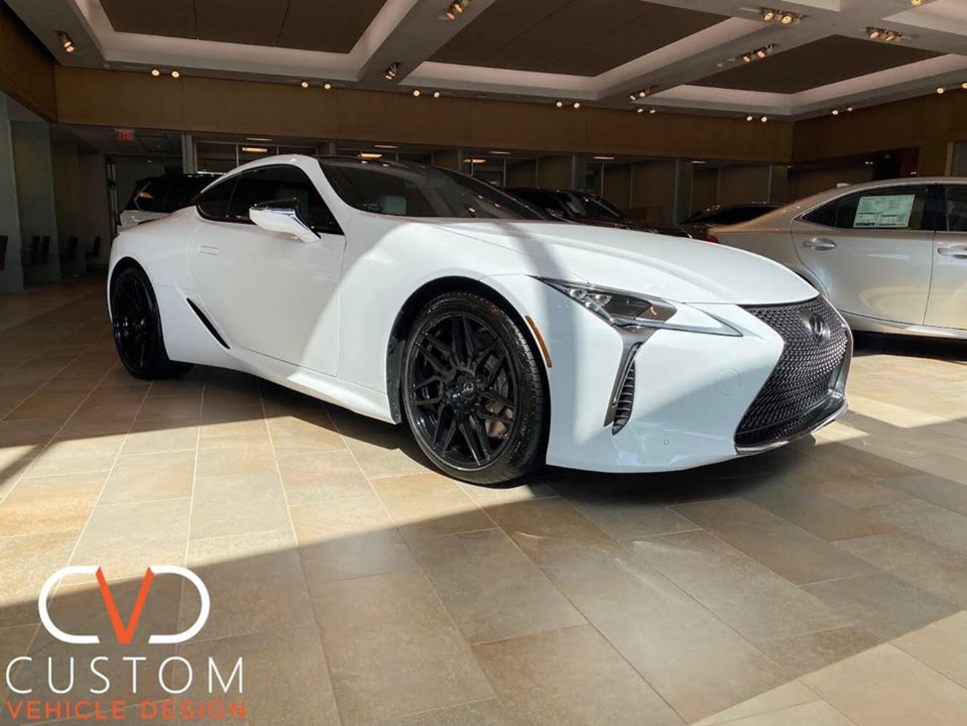 Lexus LC500 with Rohana RXF7 wheels in gloss black