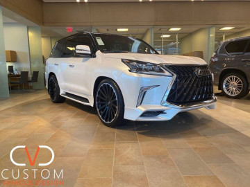 "2020 Lexus Orca LX570 with 24"" Black Rhino Spear wheels"