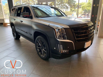 Cadillac Escalade with two tone wrap done by CVD