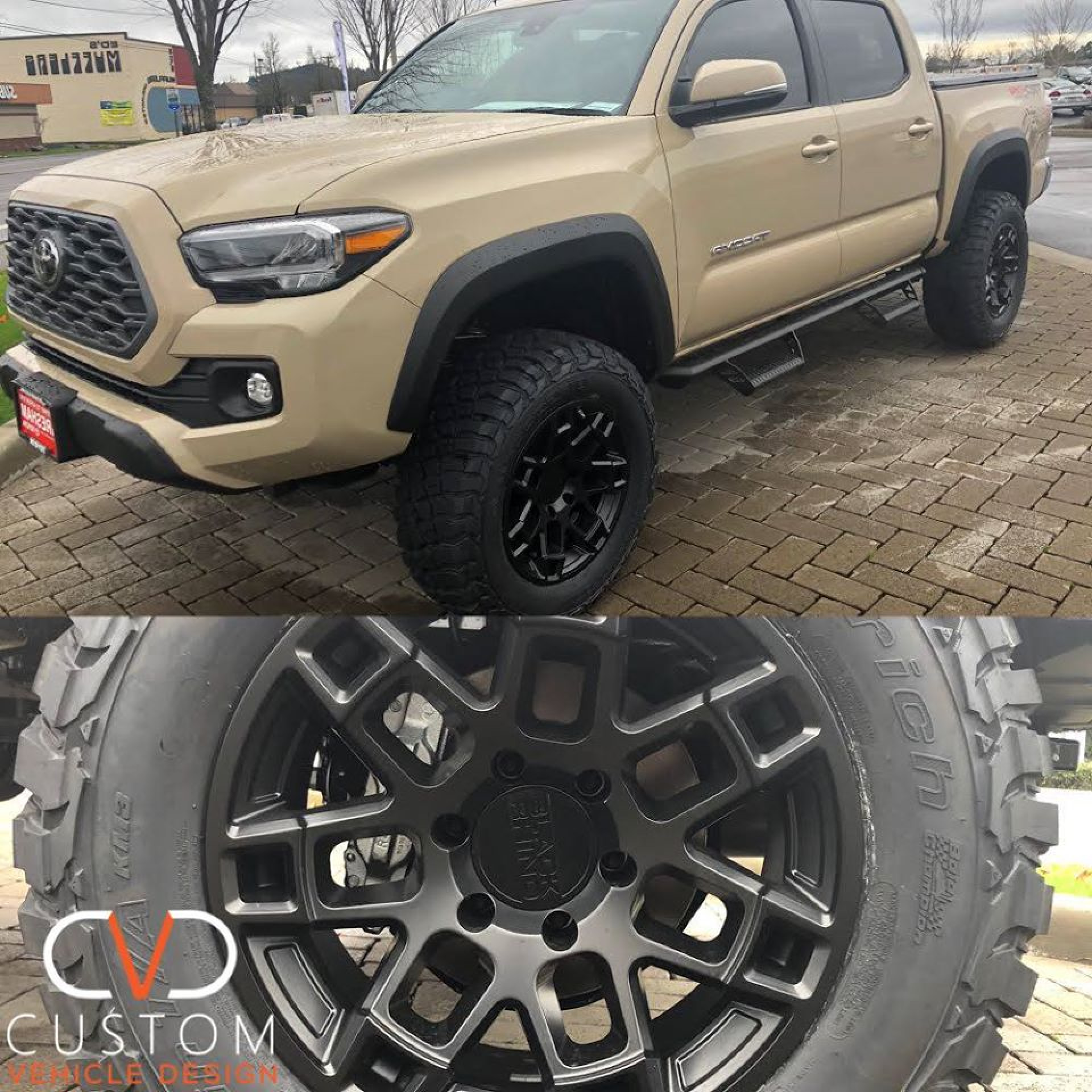 Toyota Tacoma with Black Rhino Ridge wheels