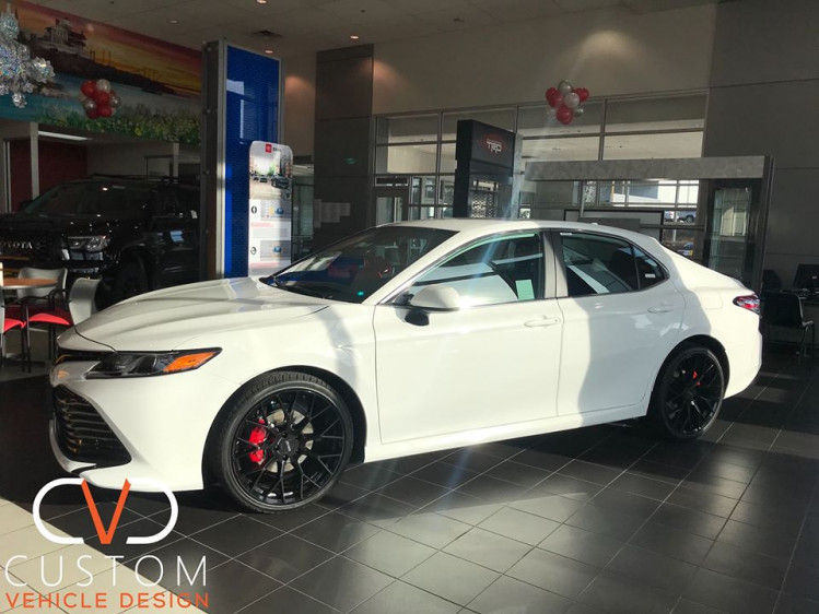 2020 Toyota Camry with the CVD package and custom lock box. Call us today to Custom your Vehicle!