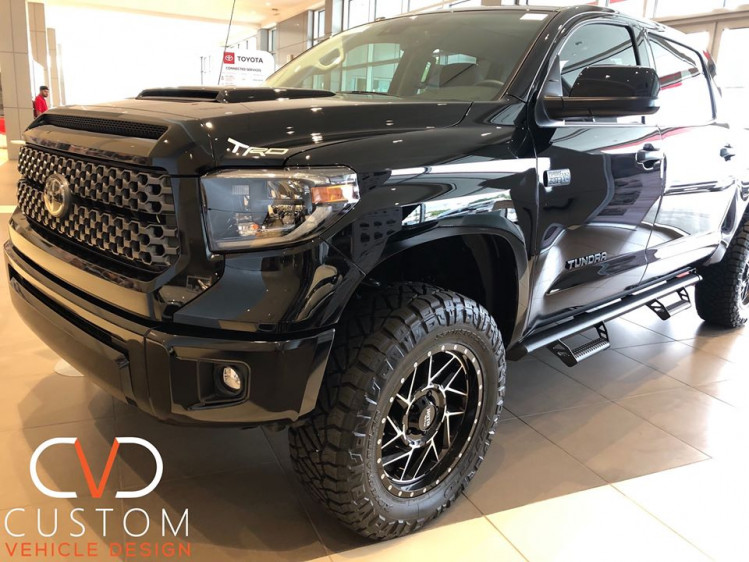 Toyota Tundra with Motto Metal wheels customized by CVD