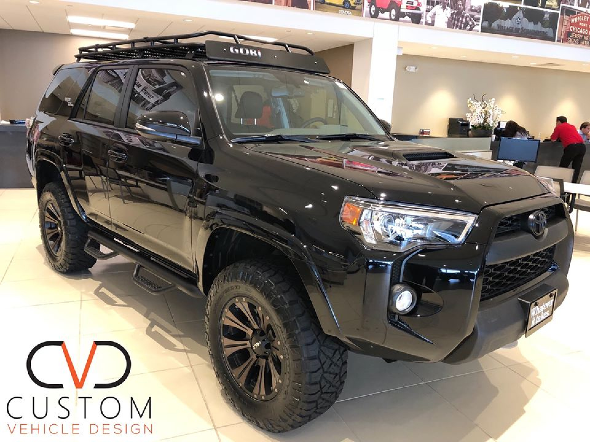Toyota 4Runner with Helo wheels customized by CVD