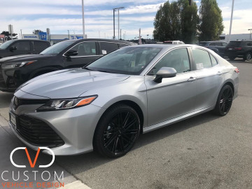 "2020 Toyota Camry with 20"" Petrol P1C wheels and Vogue Signature V tyres."