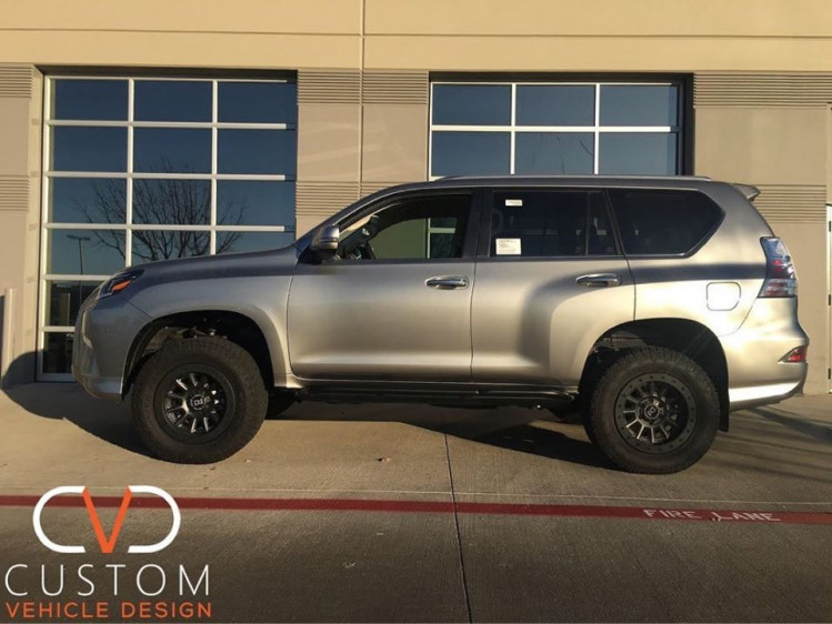 2020 Overland Edition Lexus GX460 with Black Rhino Dugger wheels and Nitto tires.