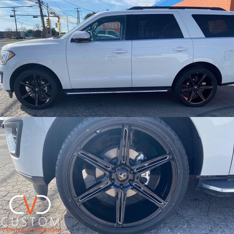 """Ford Expedition on 24"""" Asanti Wheels and Vogue Signature V Tyres⠀"""