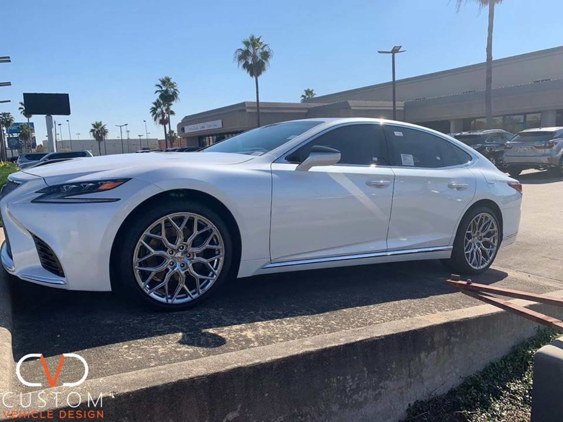 2020 Lexus LS500 with Vossen HF2 wheels ⠀