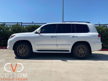 2020 Lexus LX570 with 20inch factory powder coated wheels