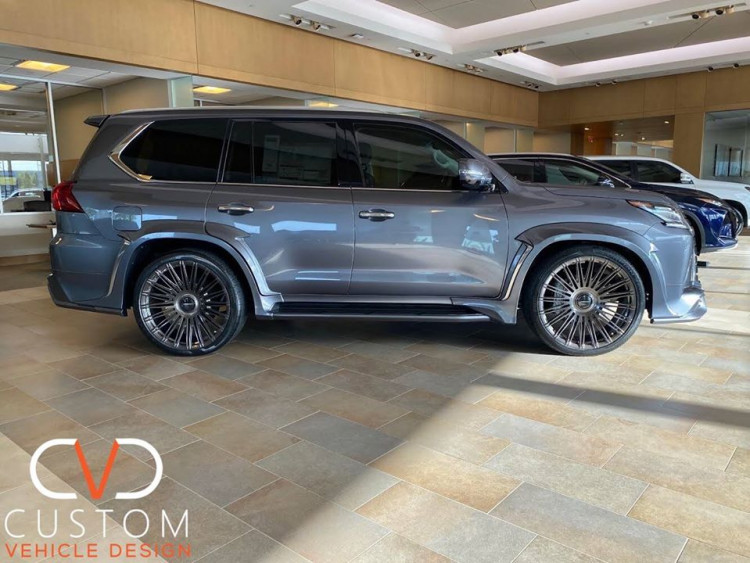 """2020 Lexus LX570 with 24"""" Vossen fully forged S17-14 wheels"""